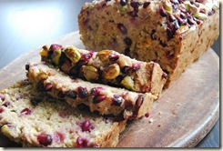 Pomegranate, Pistachio and Banana Bread (2)