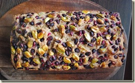 Pomegranate, Pistachio and Banana Bread