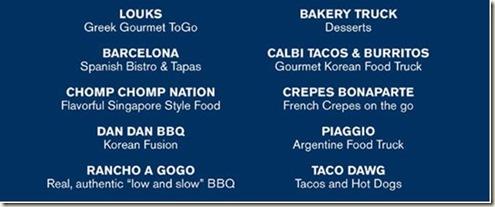 Food Truck List