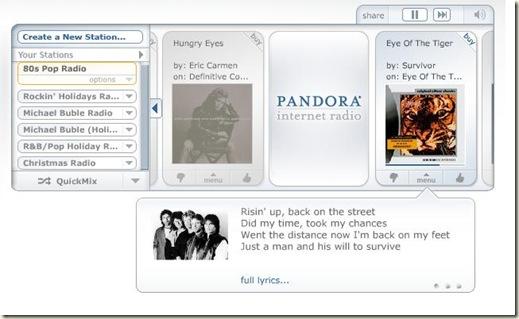 Pandora_80s pop radio