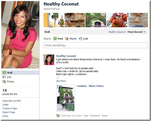 Healthy Coconut_Facebook page