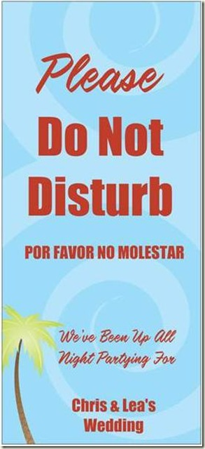 Wedding_Do Not Disturb
