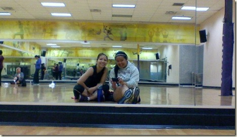 zumba class with my sister _a