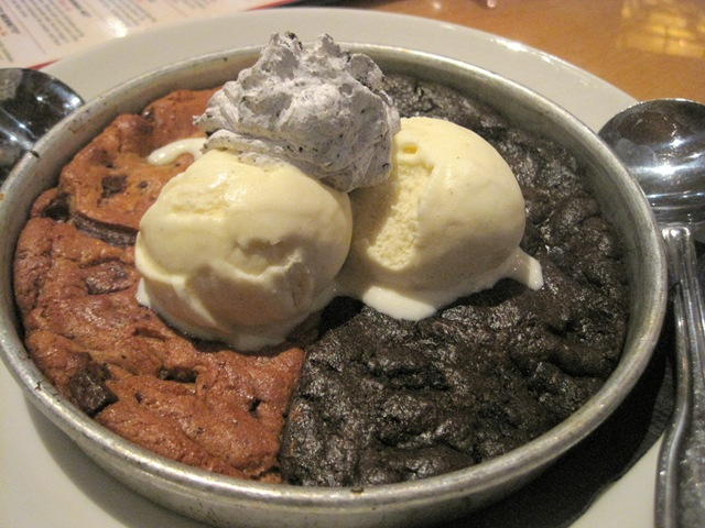 ... Pizookie, cookie in a pizza pan. It's not pizza pizza, it's