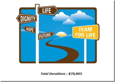 Team For Life - total donations