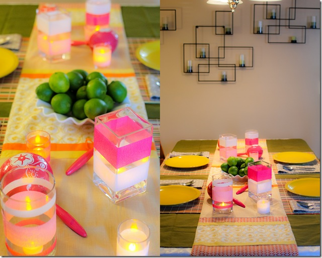 tropincal table setting
