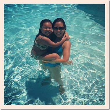 me and jazzy at the pool