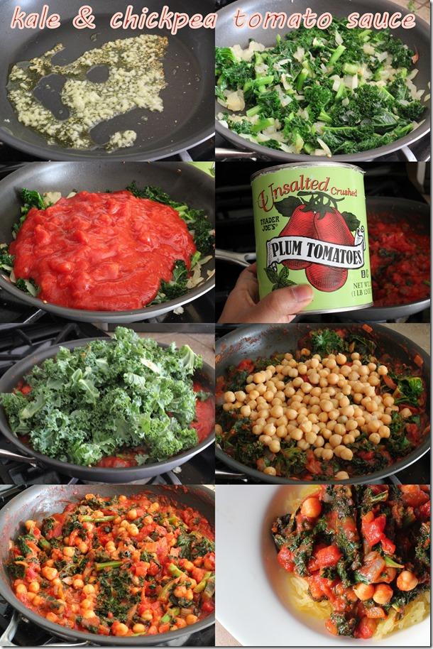 kale chickpea sauce