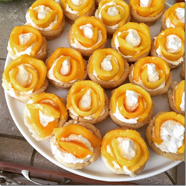 mango cookie cups
