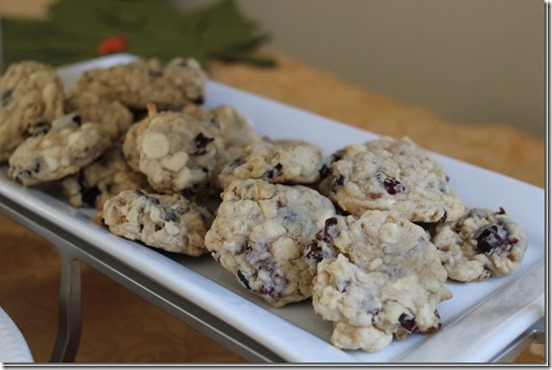 Oatmeal Cranberry White Chocolate Cookies