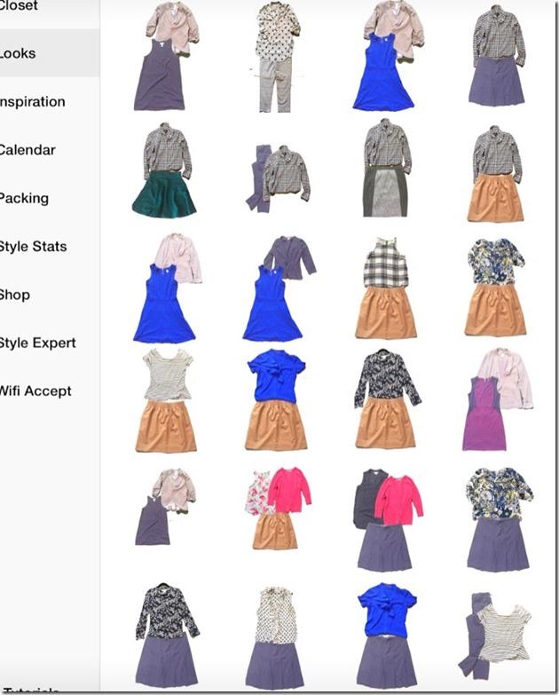 stylebook app for wardrobe capsule