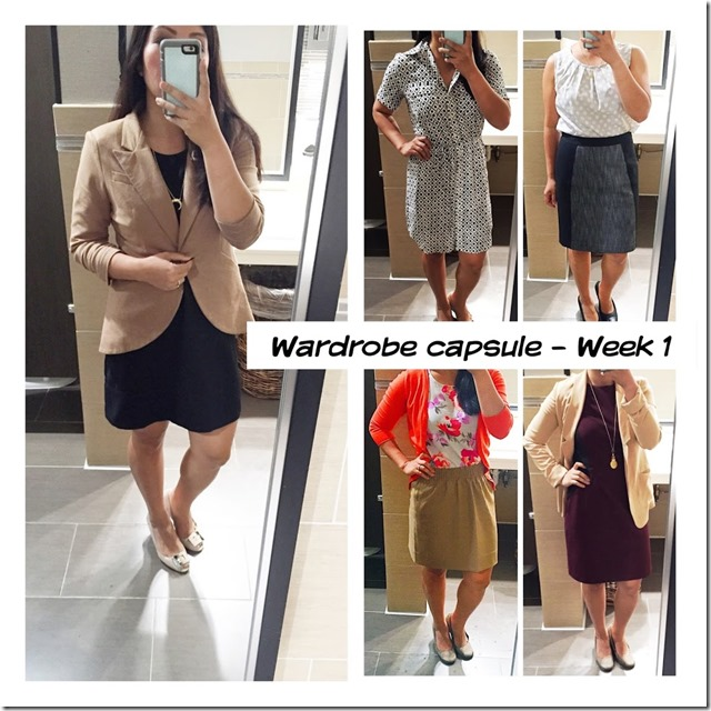 wardrobe capsule - week 1